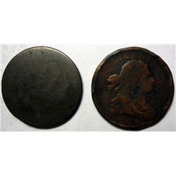 1800 and 1805 Draped Bust half cent