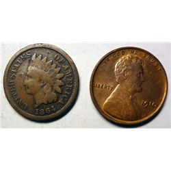 1910 Lincoln penny  MS63RB