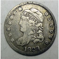 1829 Bust half dime Nice star center VF