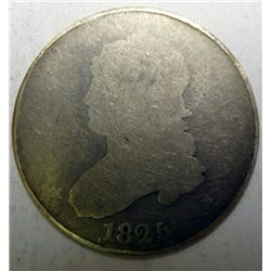 1825 Bust quarter  AG/G close date