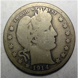 1914S Barber quarter  good