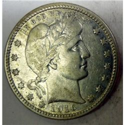 1916  Barber quarter   VF/XF