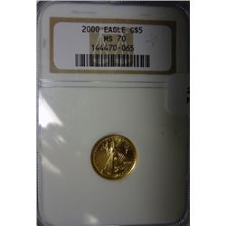 2000 1/10th oz. gold Gold Eagle  NGC70