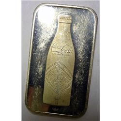 75th anniv Coca Cola 1 oz. silver bar