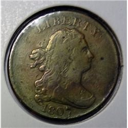 1807 half cent  VF  strong detail   VF GS bid = $125