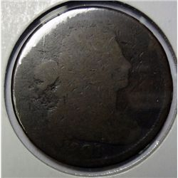 1807 large penny  solid date  G/AG