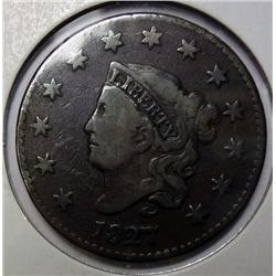 1827 large penny  Fine