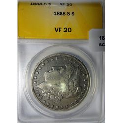 1888S Morgan $  ANACS20