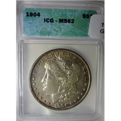 1904 Morgan $  ICG62  MS63 GS bid = $210