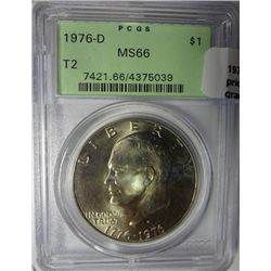 1976 D T2 Ike $ PCGS66  PCGS price guide = $80