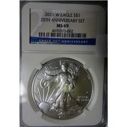 2011W  silver Eagle  NGC69