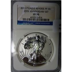2011P rev proof  silver Eagle  NGCPF70
