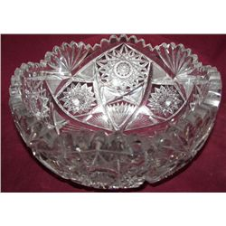 Libbey American Brilliant Period Bowl