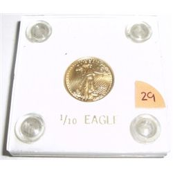 1999 $5 Gold Eagle Bullion Coin 1/10oz GOLD Come in a Hard Case!!
