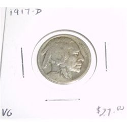 1917-D Buffalo Nickel *EXTREMELY RARE VERY GOOD CONDITION*!!