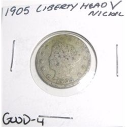 "1905 Liberty Head ""V"" Nickel *GOOD-4 CONDITION*!!"