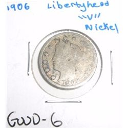 "1906 Liberty Head ""V"" Nickel *GOOD-6 CONDITION*!!"