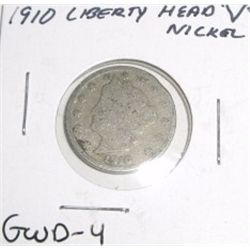 "1910 Liberty Head ""V"" Nickel *GOOD-4 CONDITION*!!"