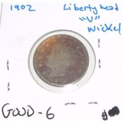 "1902 Liberty Head ""V"" Nickel *GOOD-6 CONDITION*!!"