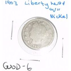 "1903 Liberty Head ""V"" Nickel *GOOD-6 CONDITION*!!"