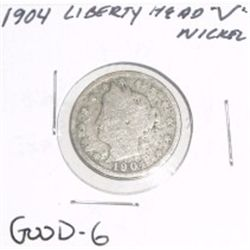 "1904 Liberty Head ""V"" Nickel *GOOD-6 CONDITION*!!"