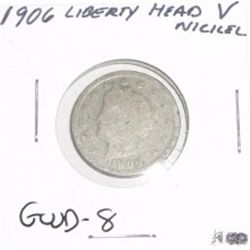 "1906 Liberty Head ""V"" Nickel *GOOD-8 CONDITION*!!"