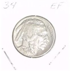 1934 Buffalo Nickel *EXTRA FINE-40 GRADE*!!