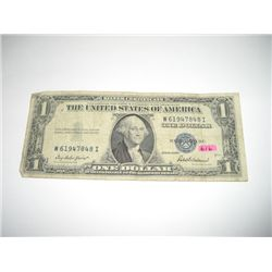 1935 Series F Silver Certificate $1 Bill Serial # W61947848I!!