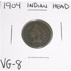 1904 Indian Head Penny *VERY GOOD-8 GRADE*!!!