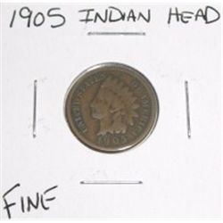 1905 Indian Head Penny *FINE GRADE NICE COIN*!!!