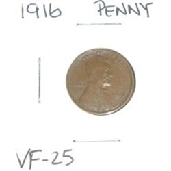 1916 Lincoln Penny *VERY FINE-25 GRADE*!!