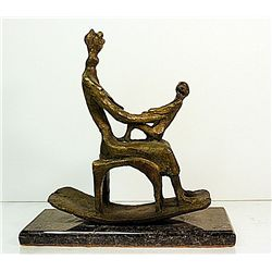 Henry Moore  Original, limited Edition  Bronze - Rock Chair