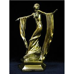 Real Origanal limited edition 24k gold Art Deco Chiparus Sculpture -Diva Dancer