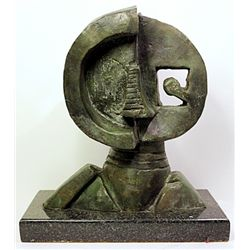 Rufino Tamayo  Original, limited Edition  Bronze -  MAN HEAD