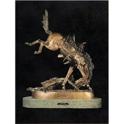 Bronze Sculpture - Wicked Pony by F. Remington