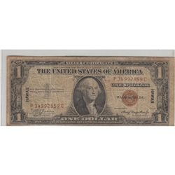 1935 $1 HAWAII SILVER CERTIFICATE EMERGENCY ISSUE