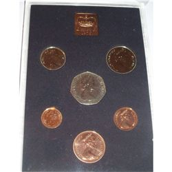 197I DECIMAL COIN SET OF BRITAIN & IRELAND