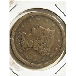 1856 Braided Hair Large Cent