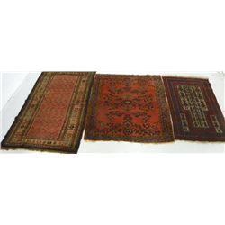 3 antique Persian scatter rugs