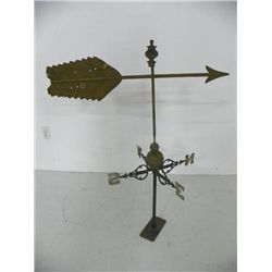 19th c. brass & iron weathervane