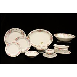 Czechoslovakian dinnerware with floral design