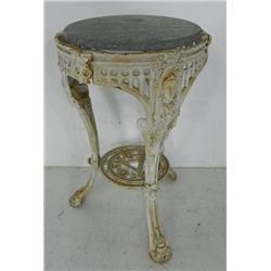 Cast iron figural marble table top