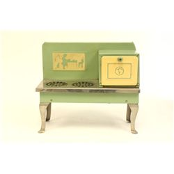 Toy metal oven/stove ca. 1950's