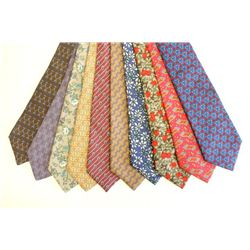 10 Hermes silk ties