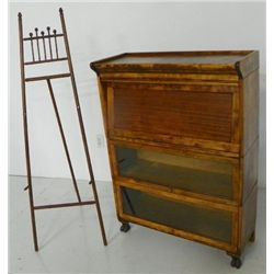 Barrister stack bookcase & stick & ball easel