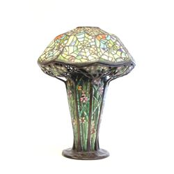 Tiffany style multi color  Spider Web  table lamp
