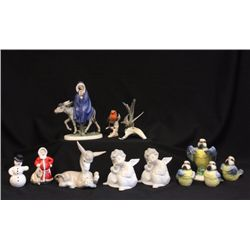 Lot of collectible Goebel & Lladro figures