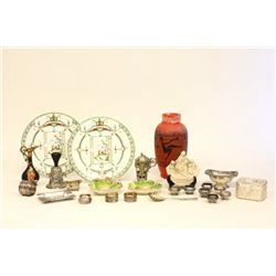 Group lot of porcelain & silverplate smalls