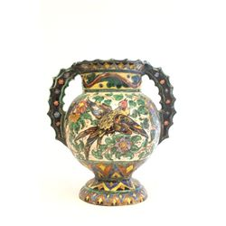 Unusual old Italian pottery ceramic vase