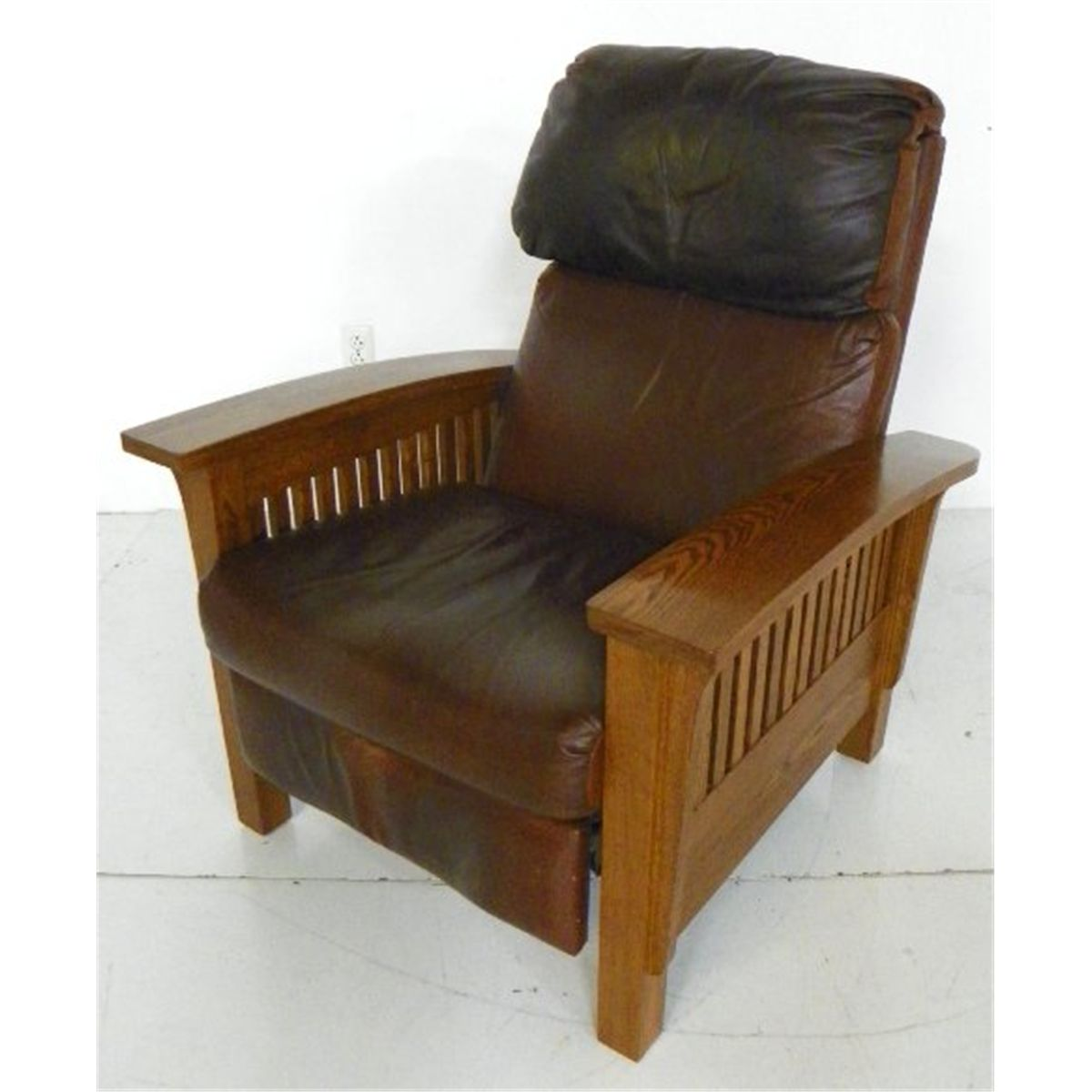 Mission Style Chairs For Sale: Mission Style Oak Morris Chair